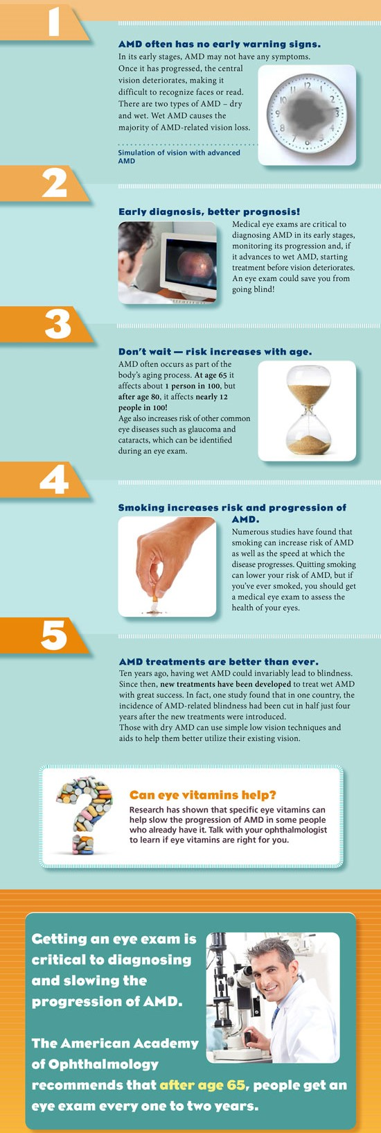 Five things every senior should know to save their sight from AMD-related vision loss